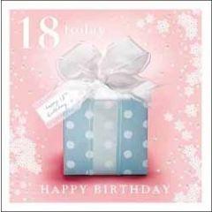18 jaar - verjaardagskaart woodmansterne - 18 today happy birthday