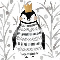 5 kerstkaarten woodmansterne - koningspinguin