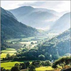 wenskaart  woodmansterne - engels landschap