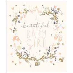 luxe geboortekaart woodmansterne - beautiful baby girl