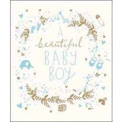 luxe geboortekaart woodmansterne - beautiful baby boy