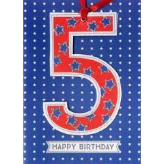 5 jaar - verjaardagskaart -  5 happy birthday