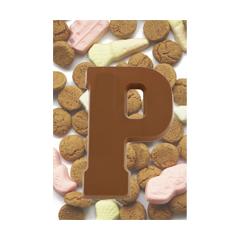 sinterklaas ansichtkaart - chocoladeletter p