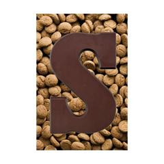sinterklaas ansichtkaart - chocoladeletter s