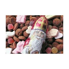 sinterklaas ansichtkaart - chocolade sinterklaas