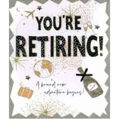 grote wenskaart A4 pensioen - you re retiring a brand new adventure begins!