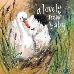 geboortekaartje - alex clark - a lovely new baby - zwaan