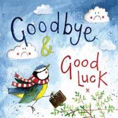 afscheidskaart - alex clark - goodbye and good luck - vogel