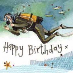 verjaardagskaart alex clark - happy birthday - duiker