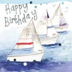 verjaardagskaart alex clark - happy birthday - zeilboten