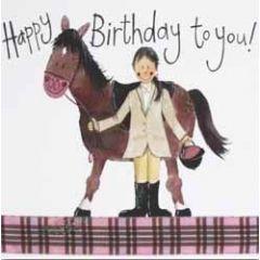 verjaardagskaart alex clark - happy birthday to you! - paard