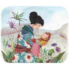 geboorte ansichtkaart met envelop - tv kaart - izou - moeder en kind