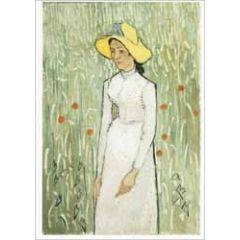 ansichtkaart - vincent van gogh - girl in white