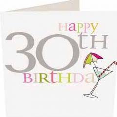 30 jaar - wenskaart caroline gardner - happy 30th birthday - cocktail