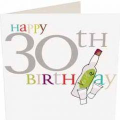 30 jaar - wenskaart caroline gardner - happy 30th birthday - wodka
