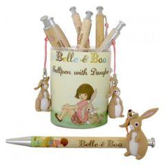 balpen met konijntje - belle en boo