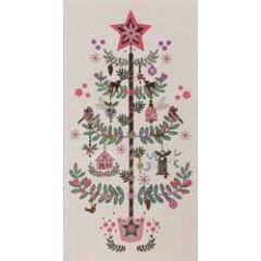 kerstkaart - cadeau envelop - kerstboom