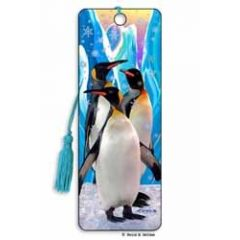 3D lenticulaire boekenlegger - pinguins