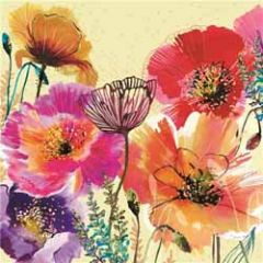 wenskaart clare maddicott - bloemen en vlinders