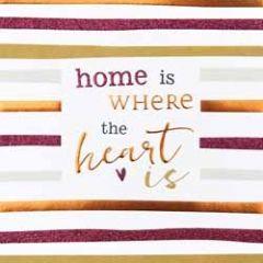 wenskaart caroline gardner - hip hip - home is where the heart is