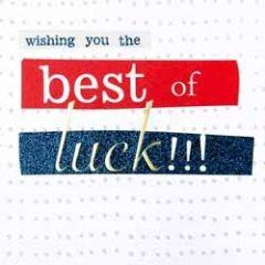 wenskaart caroline gardner - hip hip - wishing you the best of luck!