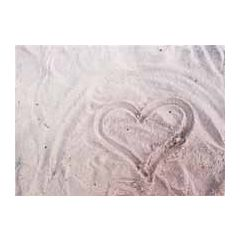 ansichtkaart  - hart in het zand, strand