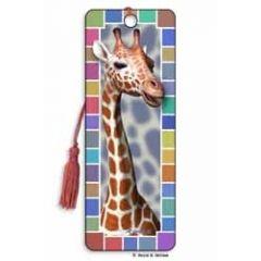 3D lenticulaire boekenlegger - giraffe