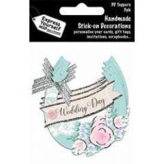 3 plak decoraties - wedding day