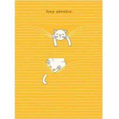 santoro eclectic cards - felines - keep pawsitive