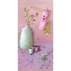 ansichtkaart met envelop - gaelle boissonnard - kruik met bloemen