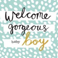 geboortekaartje caroline gardner - hey you - welcome gorgeous baby boy