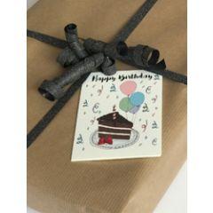 cadeaukaartje of bloemenkaartje - happy birthday - taart
