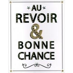 grote wenskaart A4 - au revoir & bonne chance
