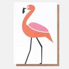 wenskaart caroline gardner - neo-pops - flamingo
