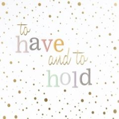 trouwkaart caroline gardner - confetti - to have and to hold
