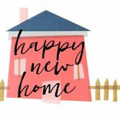 wenskaart caroline gardner - screenprint - happy new home