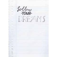 grote wenskaart A4 - follow your dreams