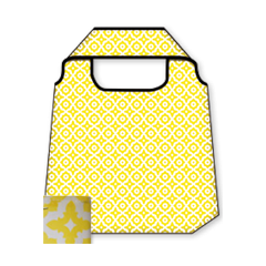 opvouwbare tas - happy bag - geel