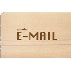 houten ansichtkaart - wooden e-mail