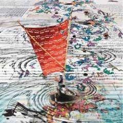 vierkante ansichtkaart met envelop - maïlo - des notes dans les voiles - muzieknoten in de zeilen
