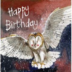 verjaardagskaart alex clark - happy birthday - uil
