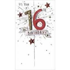 16 jaar - grote luxe verjaardagskaart - it is your 16th birthday
