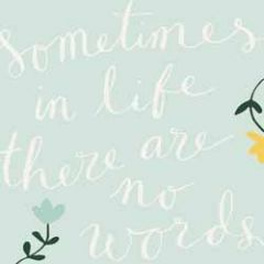 wenskaart caroline gardner - sometimes in life there are no words