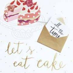 grote felicitatiekaart caroline gardner - met extra kaartje - let s eat cake