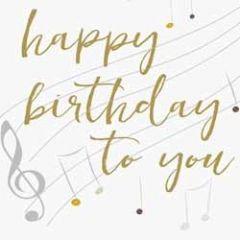 grote verjaardagskaart caroline gardner - happy birthday to you - muziek notenbalk