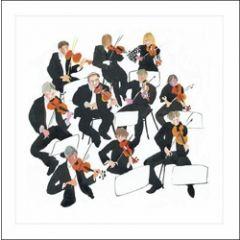 wenskaart  woodmansterne - viool violen muziek