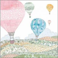 wenskaart woodmansterne - luchtballonnen