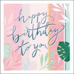 verjaardagskaart woodmansterne rumba - happy birthday to you - bladeren