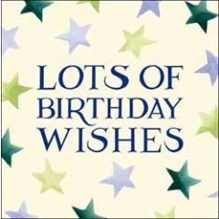 verjaardagskaart emma bridgewater - lots of birthday wishes