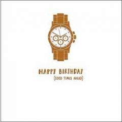 verjaardagskaart woodmansterne alpha - happy birthday good times ahead - horloge